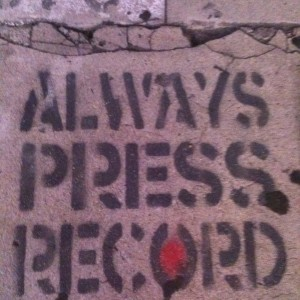 Alway Press Record grafittii
