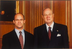 Orin Kerr and Justice Anthony Kennedy (Photo courtesy of Orin Kerr)