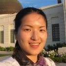 An-Min Wu Lecturer of Spatial Sciences, portrait photo outside of the Griffith Observatory building.
